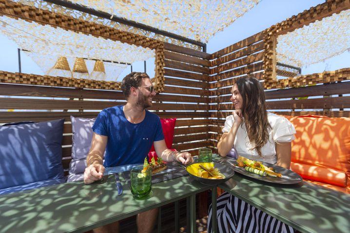 Un restaurant en rooftop à Casablanca